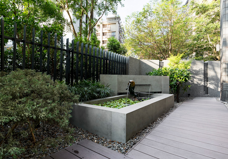 Jardín de estilo  por 大地工房景觀公司,