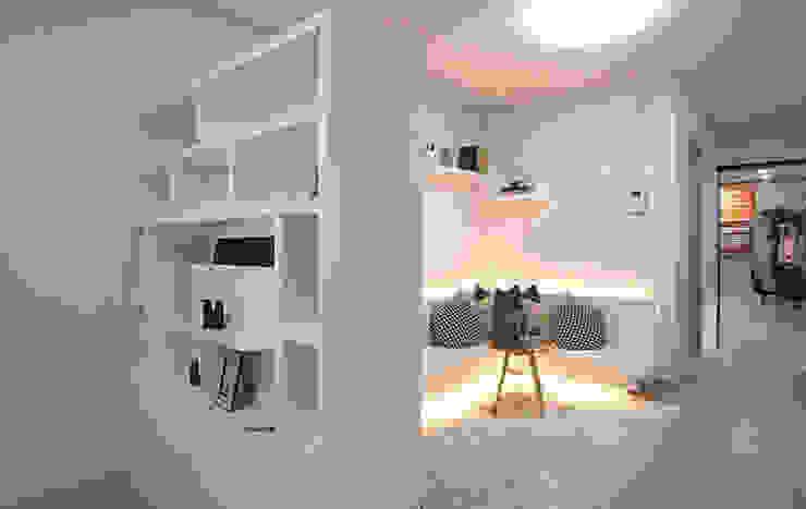 안산 센터하임 오피스텔 모델하우스 / F2-Type 모던스타일 거실 by 에이프릴디아 모던