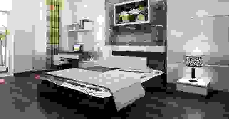 Phòng ngủ của bộ mẹ thiết kế tiện nghi Phòng ngủ phong cách châu Á bởi Công ty TNHH TK XD Song Phát Châu Á Đồng / Đồng / Đồng thau