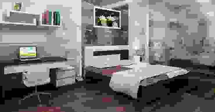 Không gian yên tĩnh giúp gia chủ được nghỉ ngơi thoải mái Phòng ngủ phong cách châu Á bởi Công ty TNHH TK XD Song Phát Châu Á Đồng / Đồng / Đồng thau