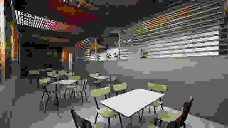 Outdoor Area Kantor & Toko Gaya Industrial Oleh ARAT Design Industrial
