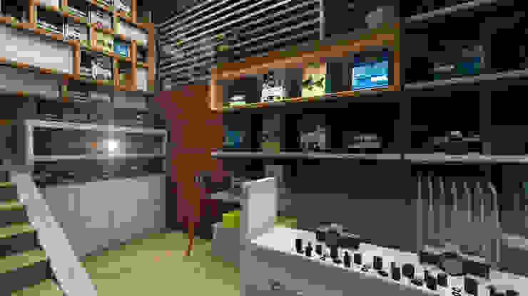 Drew & Berry Area Kantor & Toko Gaya Industrial Oleh ARAT Design Industrial