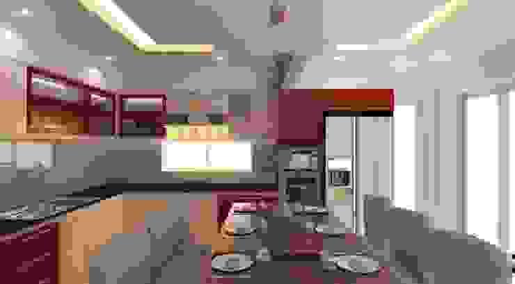 Khu vực phòng khách – bếp – phòng ăn bởi Công ty TNHH Xây Dựng TM – DV Song Phát Hiện đại