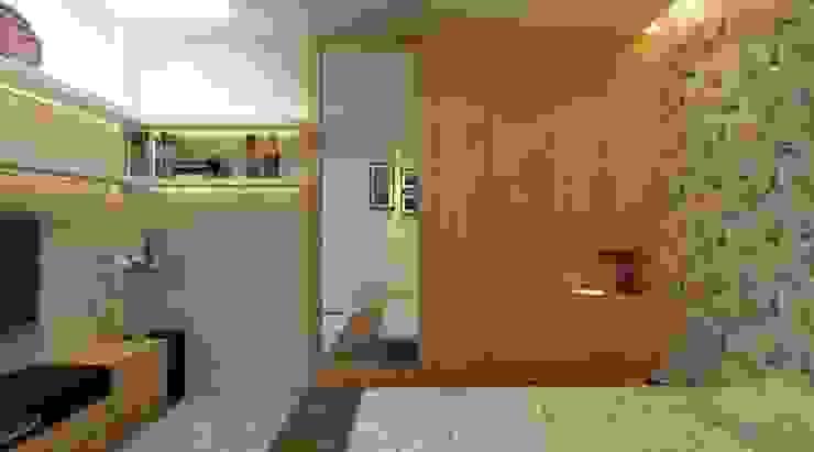 Thiết kế phòng ngủ master – phòng ngủ của con – phòng ông bà – phòng ngủ khách Phòng ngủ phong cách hiện đại bởi Công ty TNHH Xây Dựng TM – DV Song Phát Hiện đại