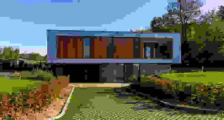 voorgevel van 3d Visie architecten Modern Beton