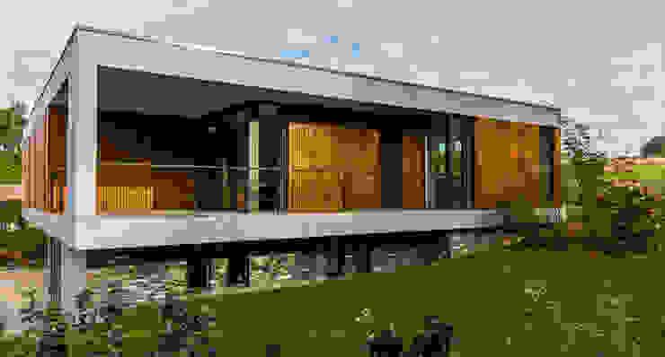 rechter zijgevel Moderne huizen van 3d Visie architecten Modern Stenen