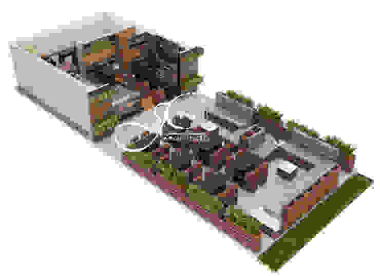 Perspectiva de MAHO arquitectura y diseño, C.A Moderno Madera Acabado en madera