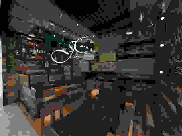 Diseño interior y remodelación comercial de MAHO arquitectura y diseño, C.A Moderno Madera Acabado en madera