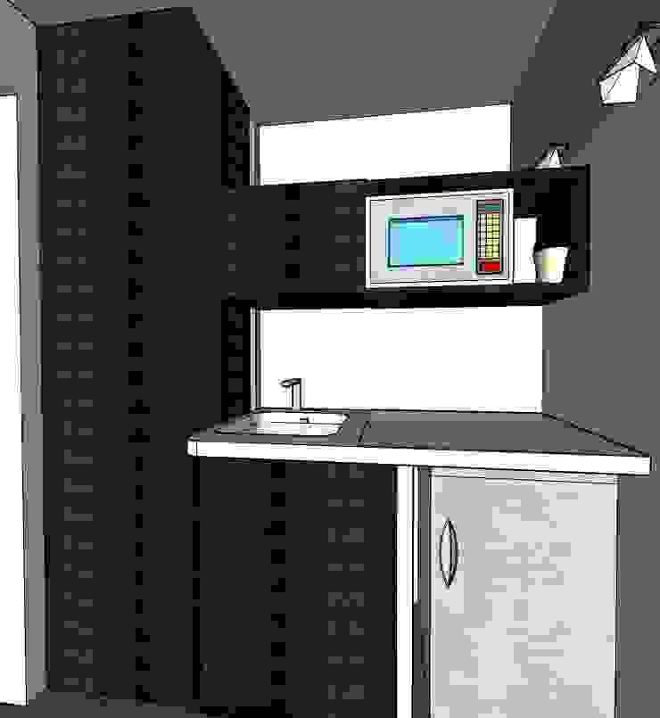 Diseño interior comercial de MAHO arquitectura y diseño, C.A Moderno Derivados de madera Transparente