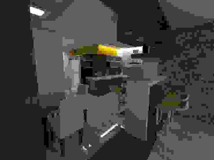Diseño Interior vivienda de MAHO arquitectura y diseño, C.A Minimalista Cerámica