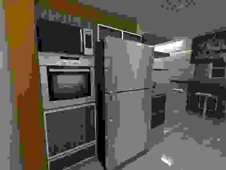 Diseño Interior vivienda de MAHO arquitectura y diseño, C.A Minimalista Concreto