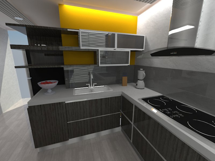 Diseño Interior vivienda de MAHO arquitectura y diseño, C.A Minimalista Vidrio