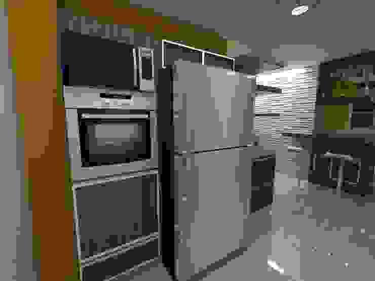 Diseño Interior vivienda de MAHO arquitectura y diseño, C.A Minimalista Cerámico