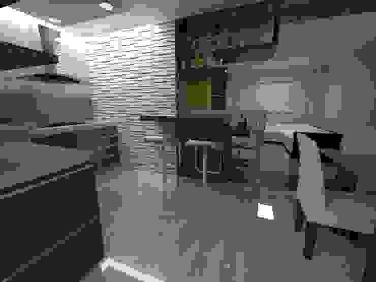 Diseño Interior vivienda de MAHO arquitectura y diseño, C.A Minimalista Compuestos de madera y plástico