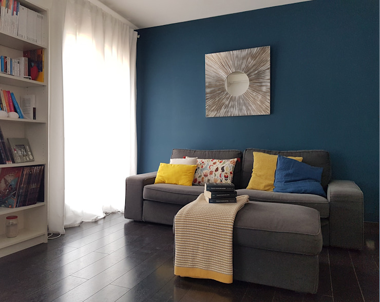 CS Architecture d'intérieur Salones escandinavos Azul