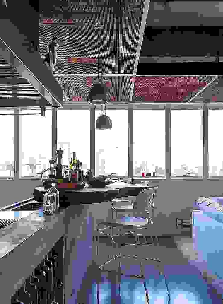 Comedores de estilo industrial de Nautilo Arquitetura & Gerenciamento Industrial Hierro/Acero
