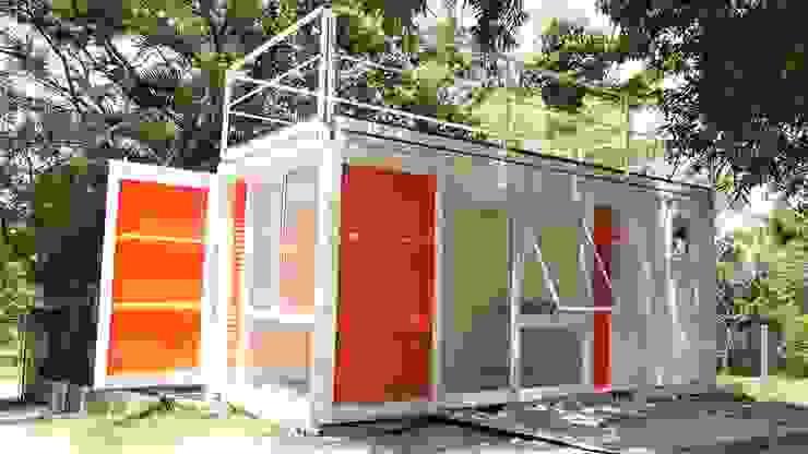 Fachada Principal por Casa Container Marilia - Barros Assuane Arquitetura