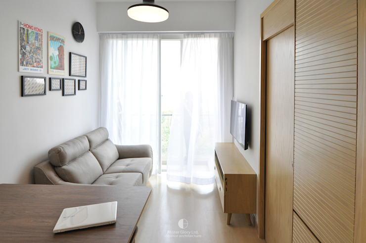 1 Minimalist living room by Mister Glory Ltd Minimalist