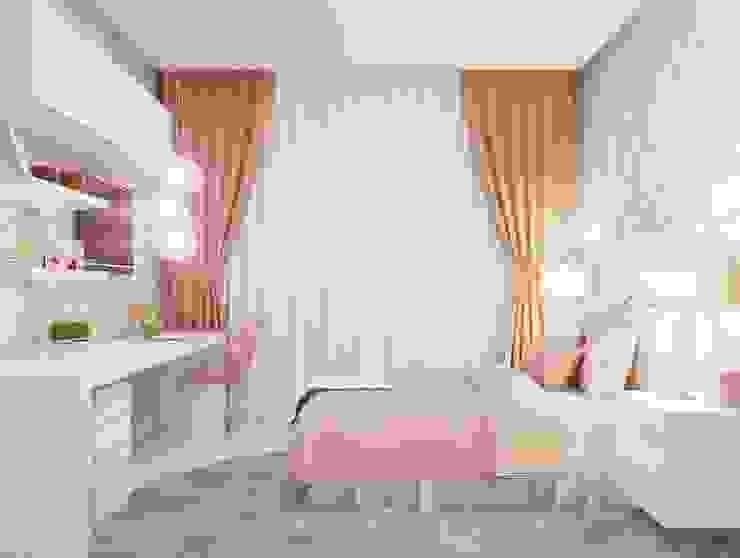 Dormitorios de estilo moderno de Camila Pimenta   Arquitetura + Interiores Moderno Tablero DM