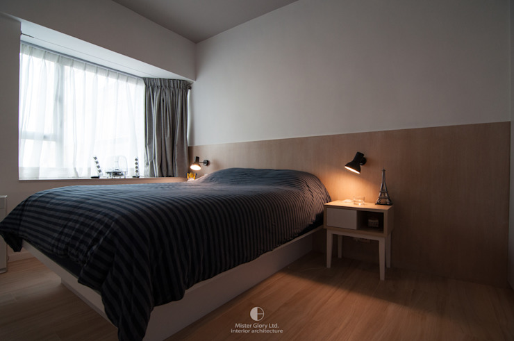 7 Minimalist bedroom by Mister Glory Ltd Minimalist