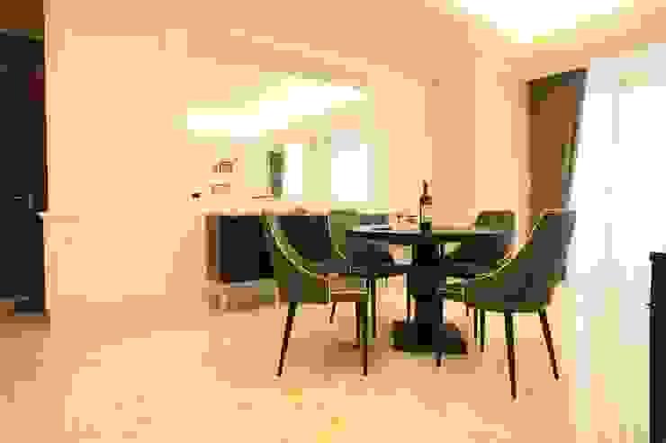 Ruang Makan Oleh Exxo interior Klasik Kayu Wood effect