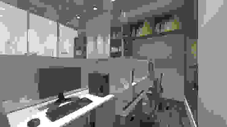 Cubicle Room Ruang Studi/Kantor Minimalis Oleh ARAT Design Minimalis
