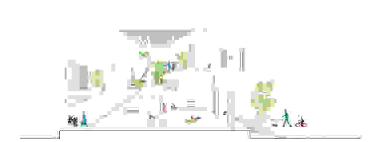 Bản vẽ mặt cắt ngôi nhà lệch tầng:  Nhà gia đình by Công ty TNHH Xây Dựng TM – DV Song Phát,