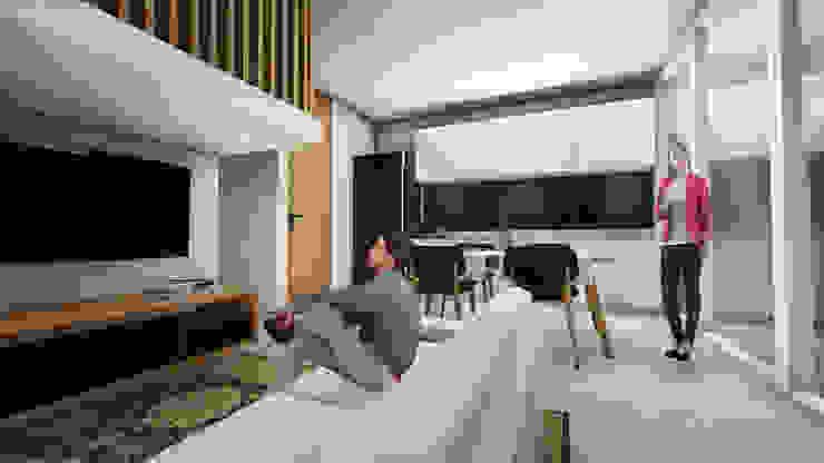 Living Room A Ruang Keluarga Minimalis Oleh ARAT Design Minimalis