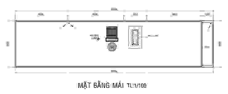 Bản vẽ mặt bằng mái nhà phố 2 tầng. bởi Công ty TNHH TK XD Song Phát Châu Á Đồng / Đồng / Đồng thau