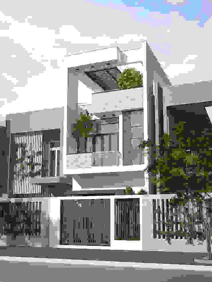 Mặt tiền nhà phố 2 tầng 4 phòng ngủ tại quận 6. bởi Công ty TNHH TK XD Song Phát Châu Á Đồng / Đồng / Đồng thau