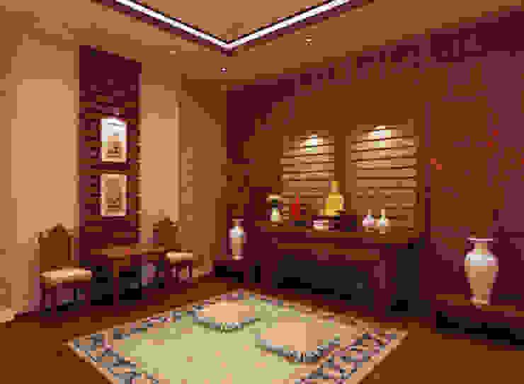 Không gian tôn nghiêm và thiêng liêng tại phòng thờ. bởi Công ty TNHH TK XD Song Phát Châu Á Đồng / Đồng / Đồng thau