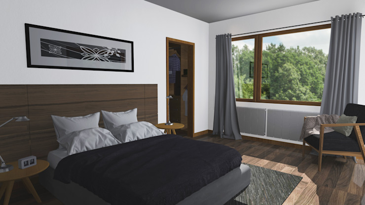 CASA M-M Dormitorios de estilo minimalista de Pro Aus Arquitectos Minimalista