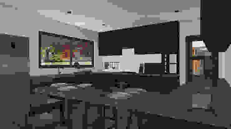 CASA M-M Cocinas de estilo minimalista de Pro Aus Arquitectos Minimalista