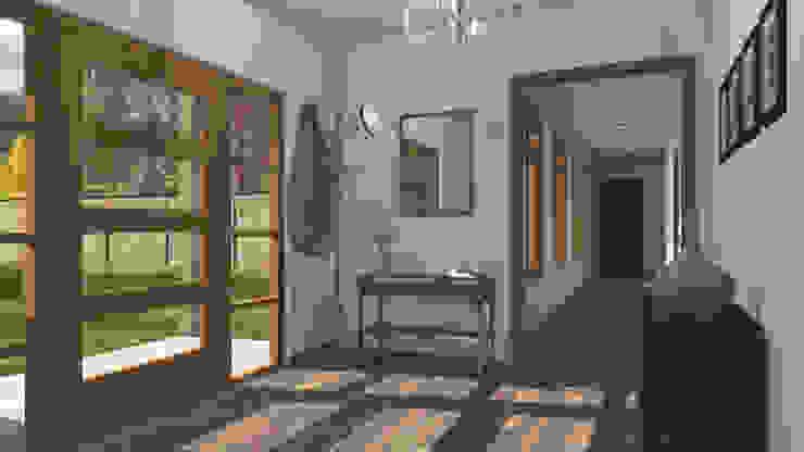 CASA M-M Pasillos, halls y escaleras minimalistas de Pro Aus Arquitectos Minimalista