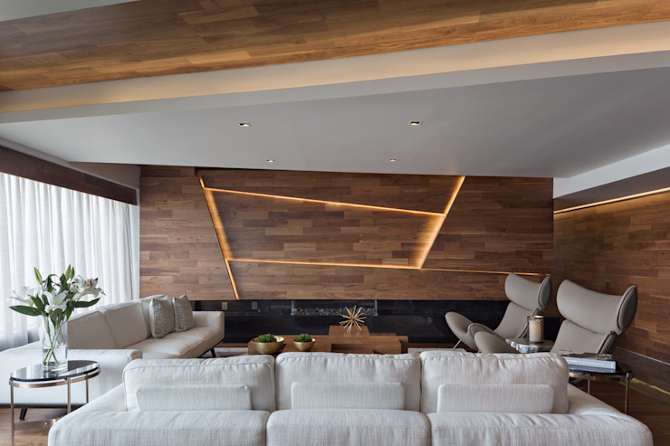 Modern Living Room by Art.chitecture, Taller de Arquitectura e Interiorismo 📍 Cancún, México. Modern