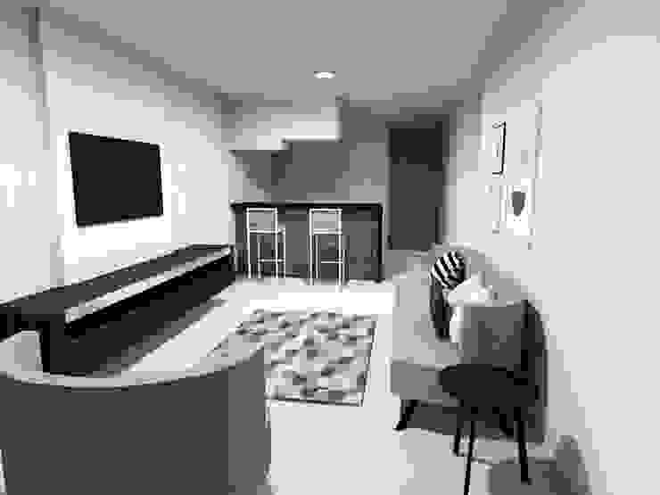 Diseño Apartamento zona social de TICKTO STUDIO Moderno
