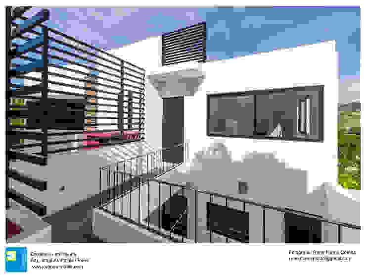 Acceso de servicio René Flores Photography Casas modernas