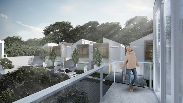 Pagar Huni Residence Rumah Minimalis Oleh ARAT Design Minimalis