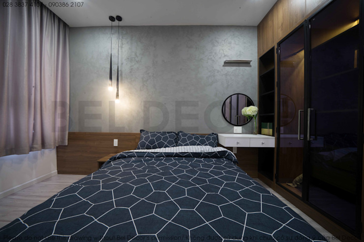 Project: HO1784 Apartment (IC)/ Bel Decor Phòng ngủ phong cách hiện đại bởi Bel Decor Hiện đại