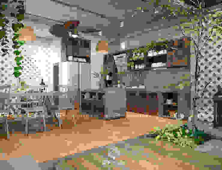 Küche von LEAF Design , Asiatisch