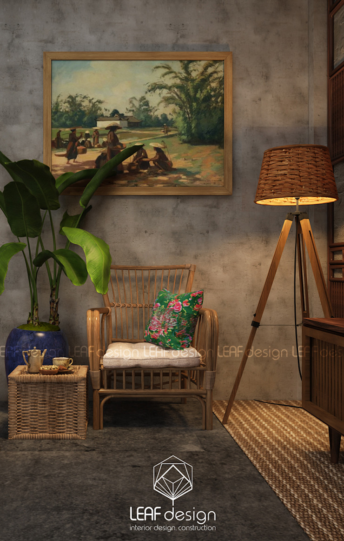Cảm xúc Á Đông – Nhà phố Sài Gòn Phòng ngủ phong cách châu Á bởi LEAF Design Châu Á