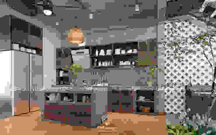 LEAF Design Cocinas de estilo asiático