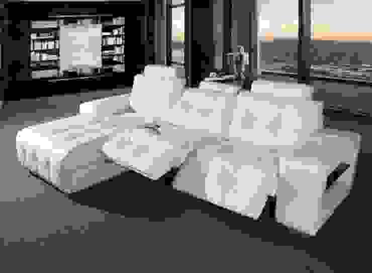 Sofá chaiselong com sistema relax Sofá-cama com sistema de relaxamento DNALOP http://www.intense-mobiliario.com/pt/sofas-relax/6719-sofa-relax-c-chaiselong-dnalop.html por Intense mobiliário e interiores; Moderno
