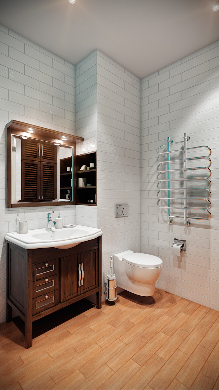 CO:interior Eclectic style bathroom White