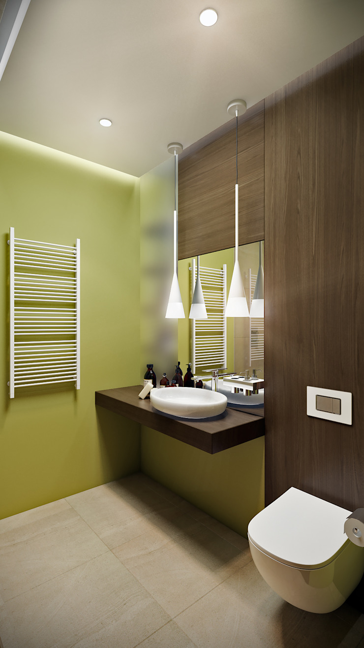 CO:interior Eclectic style bathroom Green