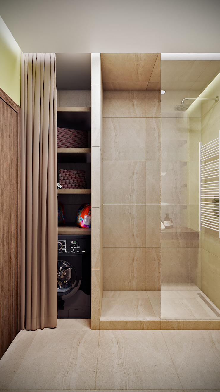 CO:interior Eclectic style bathroom Beige