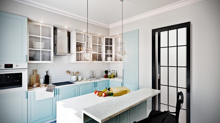 CO:interior Eclectic style kitchen White