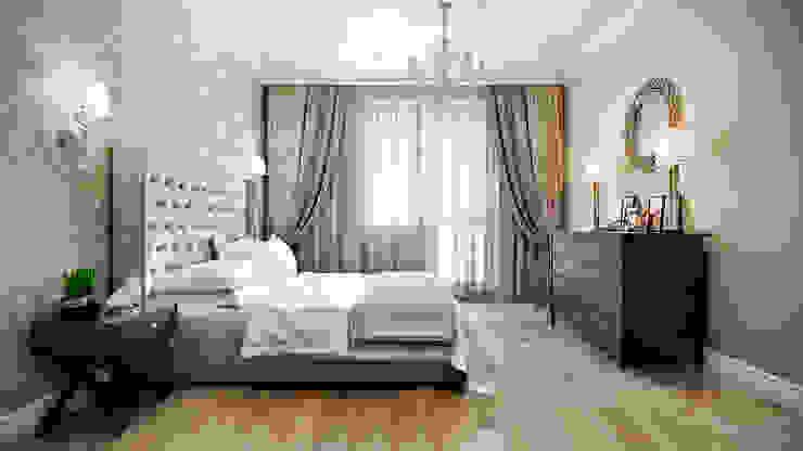 CO:interior Camera da letto in stile classico Beige