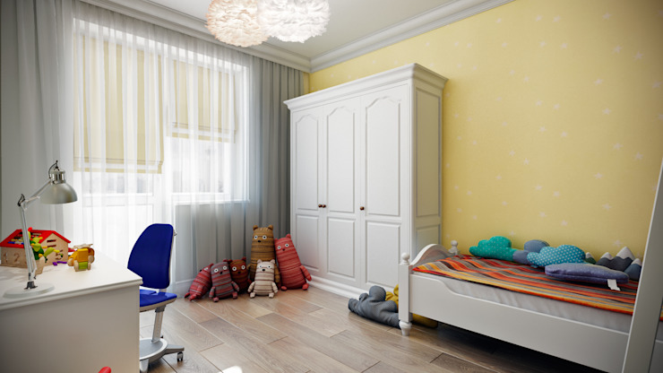 CO:interior Classic style nursery/kids room Yellow