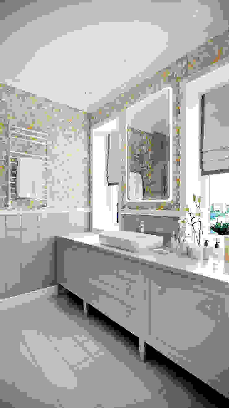 CO:interior Baños de estilo clásico Gris